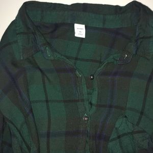 Old navy plaid shirt dress with chest pocket